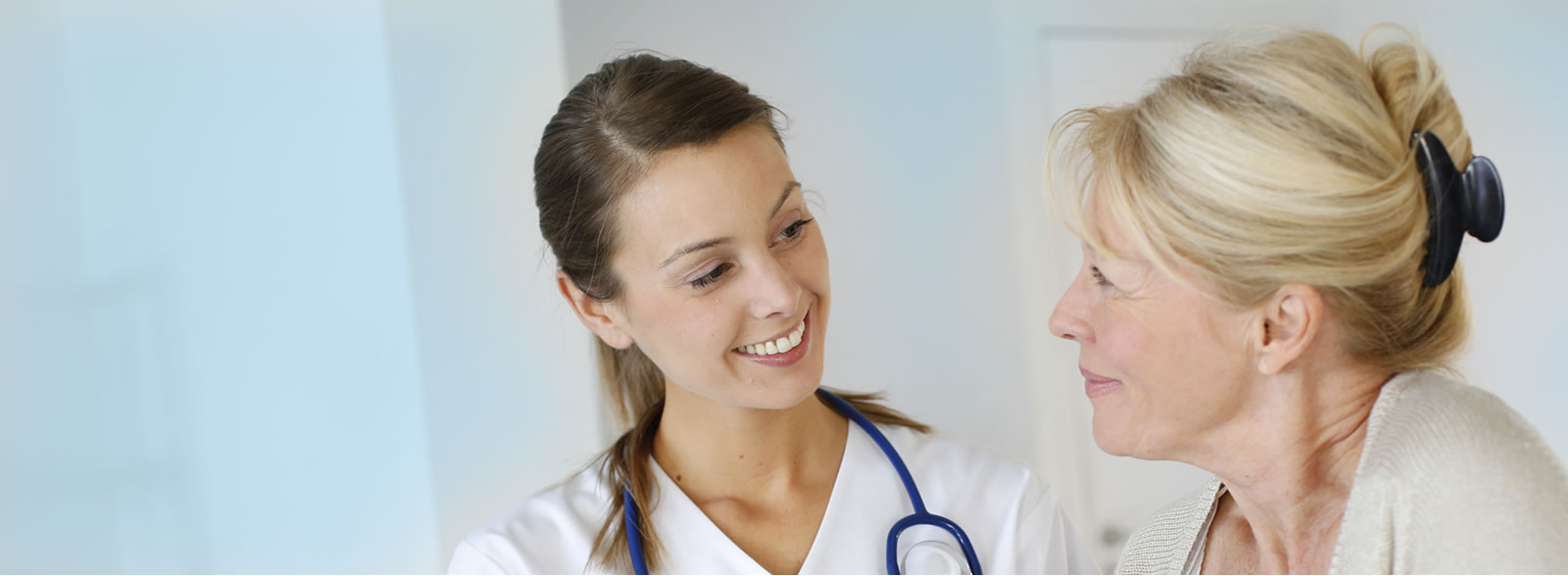 Nurse talking with patient