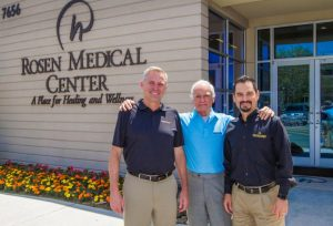 Ashley Bacot, Harris Rosen, Kenneth Aldridge at Rosen Medical Center: